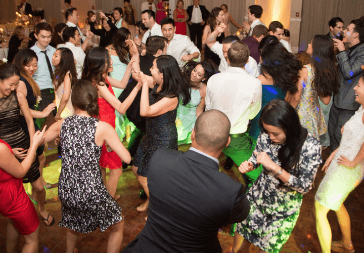 People dancing at Wiley Entertainment wedding reception