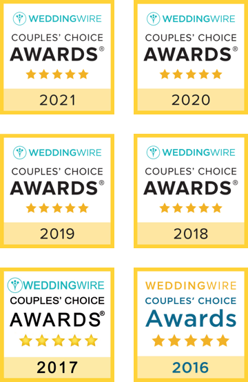 Wedding Wire Couples' Choice Awards 2016-2021